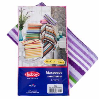 Полотенце кухонное в упаковке Hobby CIZGI махра хлопок (лиловый)