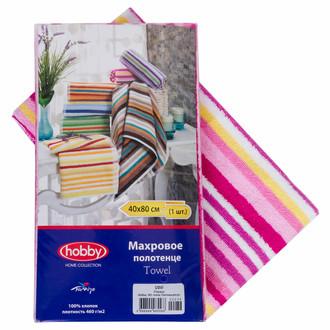 Полотенце кухонное в упаковке Hobby CIZGI махра хлопок (розовый)