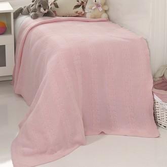 Плед-покрывало детское Karna SILVIA вязаный акрил (розовый)