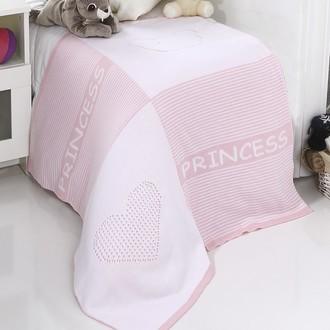 Плед-покрывало детское Karna PRENS вязаный акрил (розовый)