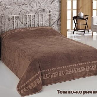 Махровая простынь-одеяло-покрывало Pupilla ELIT махра бамбук (тёмно-коричневый)