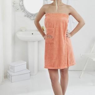 Набор для сауны женский Karna PERA махра хлопок оранжевый