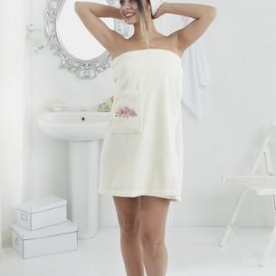 Набор для сауны женский Karna PERA махра хлопок кремовый