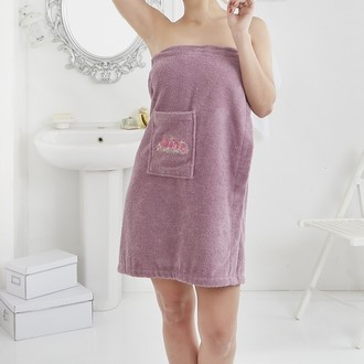 Набор для сауны женский Karna PERA махра хлопок фиолетовый