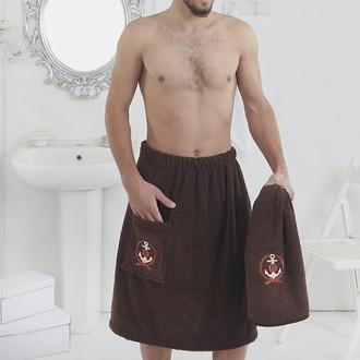 Набор для сауны мужской Karna PAMIR махра хлопок (коричневый)