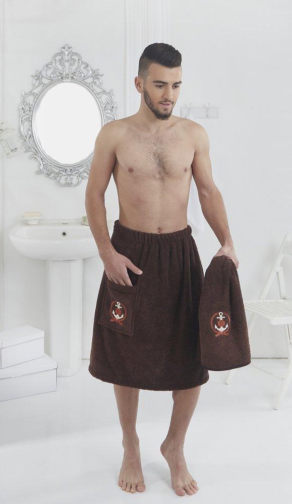 Набор для сауны мужской Karna PAMIR махра хлопок (коричневый), фото, фотография