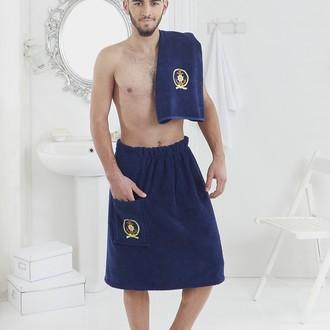 Набор для сауны мужской Karna PAMIR махра хлопок синий