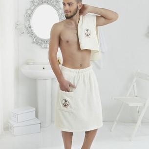 Набор для сауны мужской Karna PAMIR махра хлопок кремовый