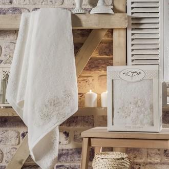 Полотенце банное в подарочной упаковке Irya GREAT махра хлопок (молочный)