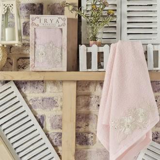 Полотенце банное в подарочной упаковке Irya FLEUR махра хлопок (розовый)