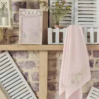 Полотенце банное в подарочной упаковке Irya ROMANTIC махра хлопок (розовый)