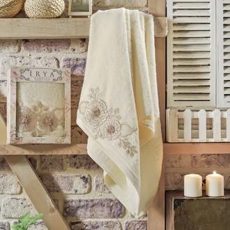 Полотенце банное в подарочной упаковке Irya FLEUR махра хлопок (золотистый)