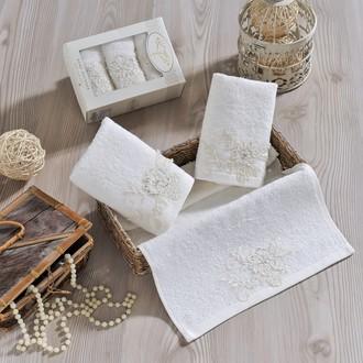 Набор полотенец в подарочной упаковке 30*50(3) Irya ACTUEL махра хлопок (молочный)