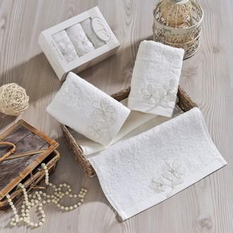 Набор полотенец в подарочной упаковке 30*50(3) Irya SENSES махра хлопок (молочный)