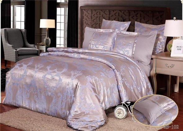 Комплект постельного белья Kingsilk ARLET AB-102 сатин-жаккард евро, фото, фотография