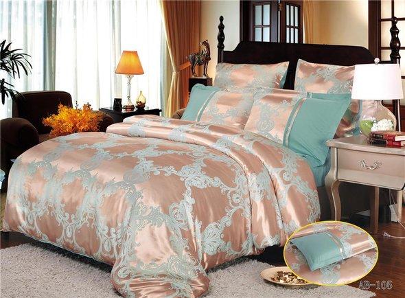 Комплект постельного белья Kingsilk ARLET AB-105 сатин-жаккард евро, фото, фотография