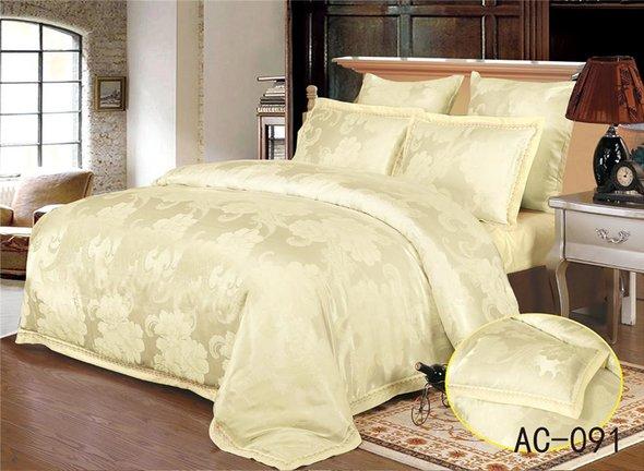Комплект постельного белья Kingsilk ARLET AC-091 сатин-жаккард евро, фото, фотография