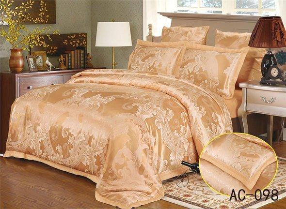 Комплект постельного белья Kingsilk ARLET AC-098 сатин-жаккард 2-х спальный, фото, фотография