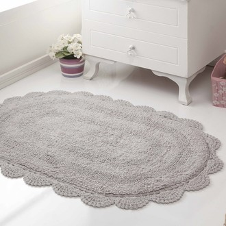 Коврик для ванной Modalin DIANA вязаный хлопок стоне