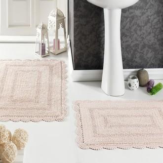 Набор ковриков для ванной Modalin EVORA вязаный хлопок 50*70, 60*100 (абрикосовый)
