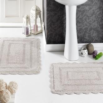 Набор ковриков для ванной Modalin EVORA вязаный хлопок 50*70, 60*100 (бежевый)