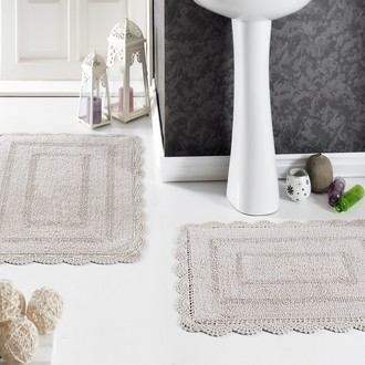 Набор ковриков для ванной Modalin EVORA вязаный хлопок 50х70, 60х100 бежевый