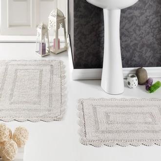 Набор ковриков для ванной Modalin EVORA вязаный хлопок 50*70, 60*100 экрю