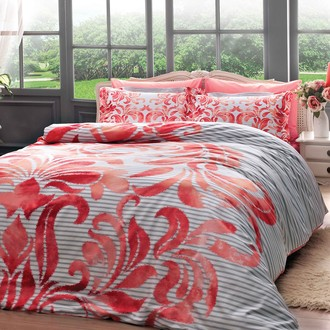 Комплект постельного белья TAC SATIN DELUX FABRICE сатин хлопок (красный)
