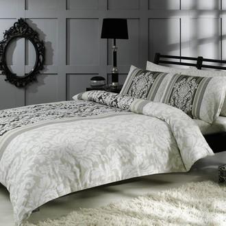 Комплект постельного белья TAC SATIN HAZEL сатин хлопок (серый)