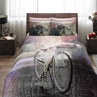 Комплект постельного белья TAC SATIN SUNSHINE сатин хлопок (розовый)