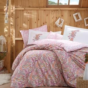 Постельное белье Hobby Home Collection GIULIA хлопковый поплин розовый 1,5 спальный