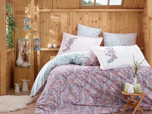 Комплект постельного белья Hobby GIULIA поплин хлопок (лиловый) 1,5 спальный, фото, фотография