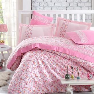 Комплект постельного белья Hobby LUISA кружево поплин хлопок (розовый)