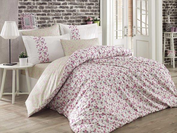 Комплект постельного белья Hobby LUISA поплин хлопок (белый) семейный, фото, фотография