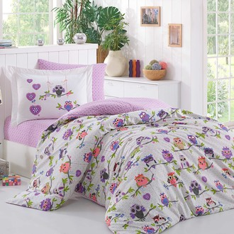 Комплект постельного белья Hobby CANDY поплин хлопок (лиловый)
