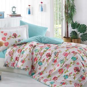 Постельное белье Hobby Home Collection CANDY хлопковый поплин розовый 1,5 спальный