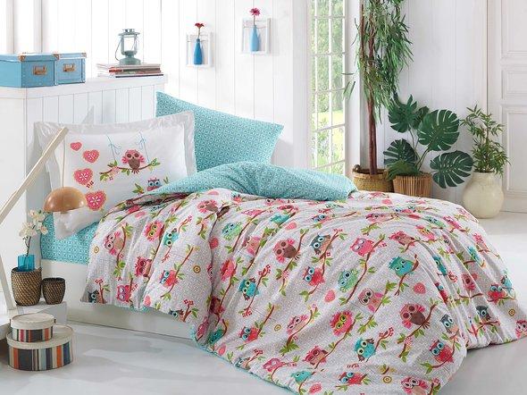 Комплект постельного белья Hobby CANDY поплин хлопок (розовый) 1,5 спальный, фото, фотография