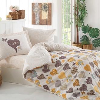 Комплект постельного белья Hobby VERA поплин хлопок (жёлтый)