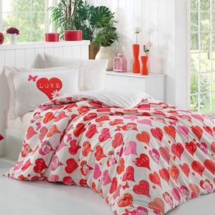 Постельное белье Hobby Home Collection VERA хлопковый поплин красный 1,5 спальный