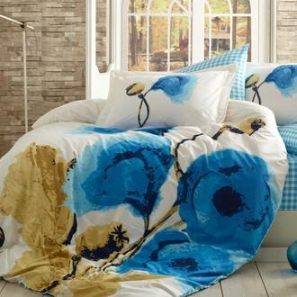Комплект постельного белья Hobby MIRAY поплин хлопок (голубой)