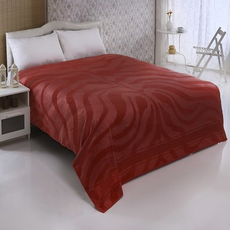 Махровая простынь-покрывало-одеяло Pupilla ZEBRA махра бамбук (кирпичный)