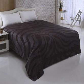 Махровая простынь-покрывало-одеяло Pupilla ZEBRA махра бамбук (серый)