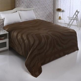 Махровая простынь-покрывало-одеяло Pupilla ZEBRA махра бамбук (коричневый)