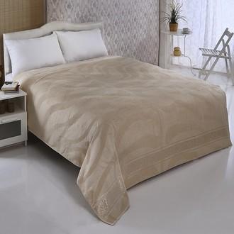 Махровая простынь-покрывало-одеяло Pupilla ZEBRA махра бамбук (кремовый)
