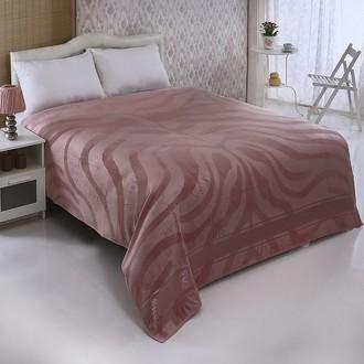 Махровая простынь-покрывало-одеяло Pupilla ZEBRA махра бамбук (грязно-розовый)