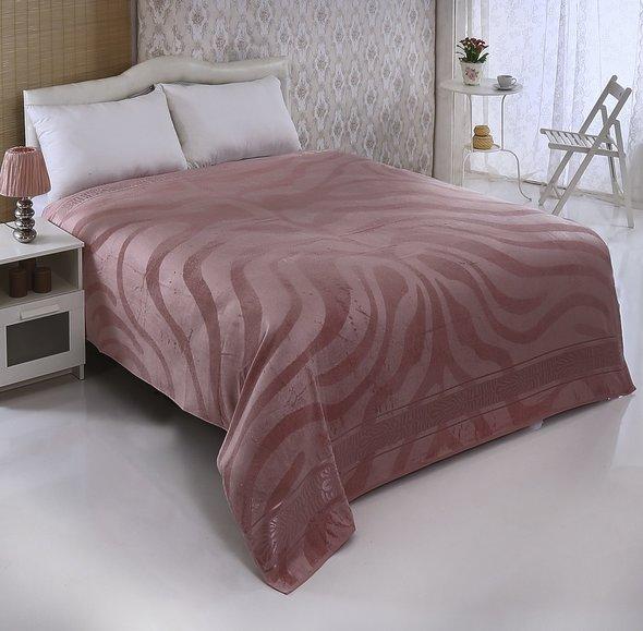 Махровая простынь-покрывало-одеяло Pupilla ZEBRA махра бамбук (грязно-розовый) 200*220, фото, фотография
