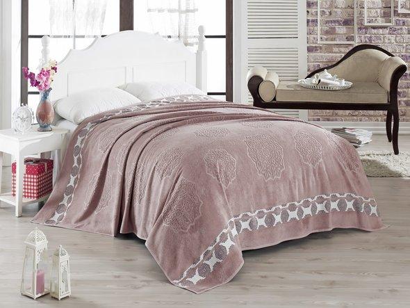 Махровая простынь-покрывало-одеяло Pupilla ELENOR махра бамбук (сиреневый) 200*220, фото, фотография