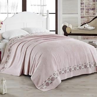 Махровая простынь-покрывало для укрывания Pupilla ELENOR махра бамбук (розовый)