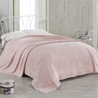 Махровая простынь-покрывало-одеяло Pupilla KIR CECEGI махра бамбук (грязно-розовый)