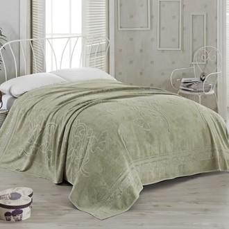Махровая простынь-покрывало-одеяло Pupilla KIR CECEGI махра бамбук (зелёный)